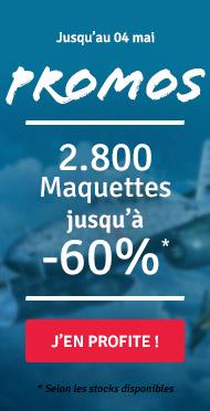 Promotions : 2800 maquettes jusqu'à -60%